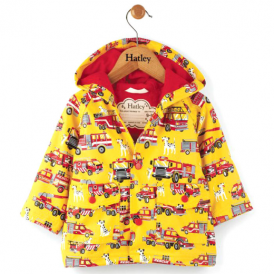 Hatley Baby Boy Raincoat Fire Trucks