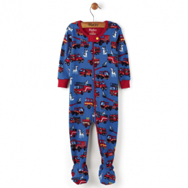 Hatley Baby Boy Romper Fire Trucks