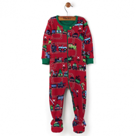 Hatley Baby Boy Romper Holiday Train