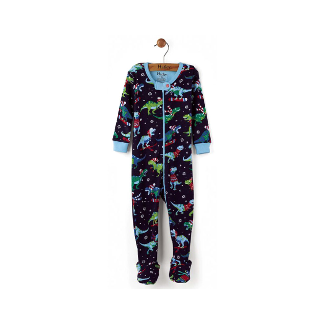 Hatley Baby Boy Romper Winter T-Rex