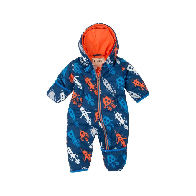 025961360 Hatley Baby Boy Snowsuit Retro Rockets