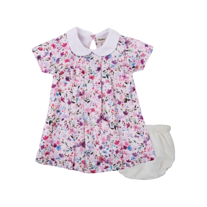 Hatley Baby Girl Dress and Bloomers Water Flowers
