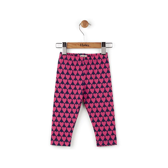Hatley Baby Girl Leggings Stacked Hearts