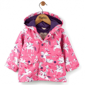 Hatley Baby Girl Raincoat Unicorns