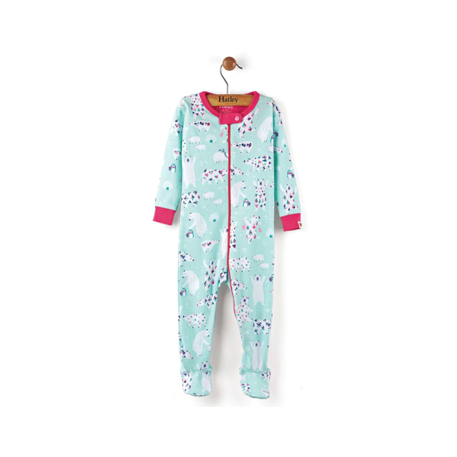 Hatley Baby Girl Romper Arctic Party