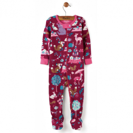 Hatley Baby Girl Romper Enchanted Animals