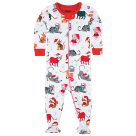 Hatley Baby Girl Romper Holiday Cats