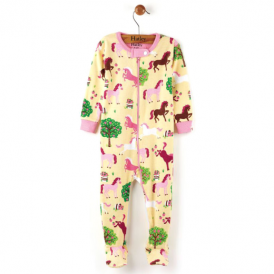 Hatley Baby Girl Romper Orchard Horses