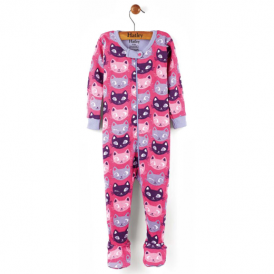 Hatley Baby Girl Romper Silly Kitties