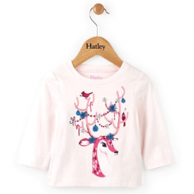Hatley Baby Girl Top Reindeer