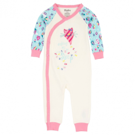 Hatley Baby Girl Wrap Romper Colourful Kites