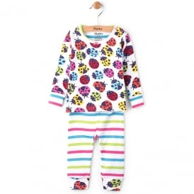 Hatley Baby Pyjamas Rainbow Ladybirds Organic Cotton