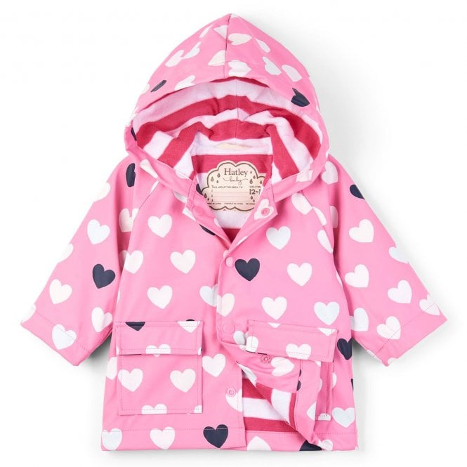 43cf57c84 Hatley Baby Raincoat Colour Changing Lovely Hearts - Baby Clothes ...