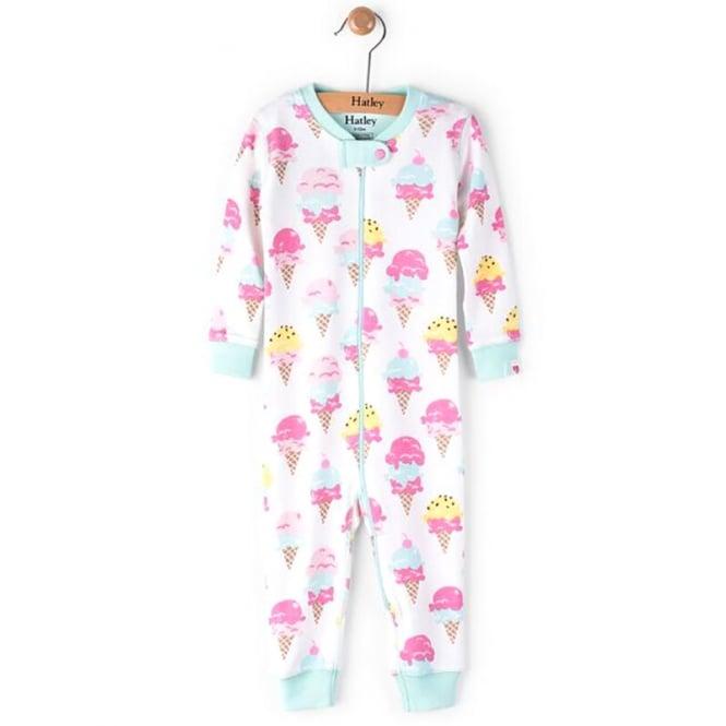 Hatley Baby Romper Ice Cream Treats Organic Cotton Baby Clothes