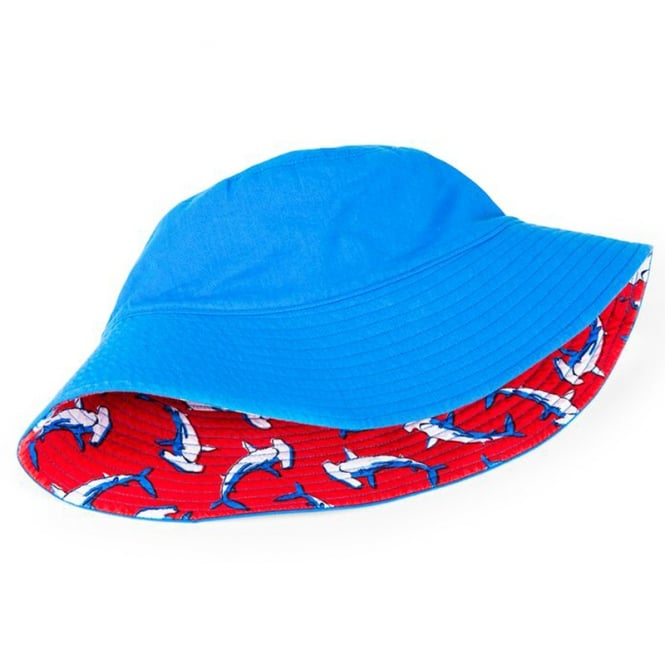 cb5e1c532aa ... stable quality a8f27 9c03b Hatley Baby Sun Hat Reversible Looping  Hammerheads ...