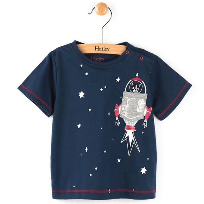 65bf2163768d Hatley Baby T-Shirt Space Dog - Baby Clothes from Soup Dragon UK