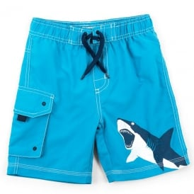Hatley Board Shorts Shark Alley