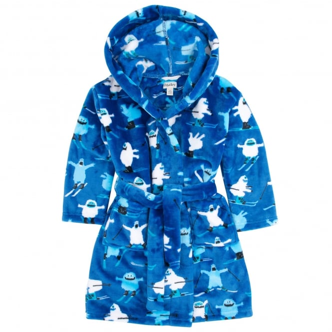Hatley Boys Fleece Robe Ski Monsters