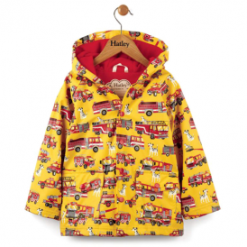 Hatley Boys Raincoat Fire Trucks