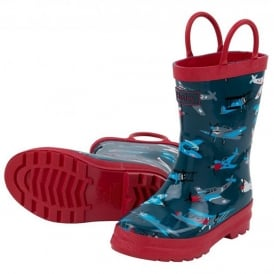 Hatley Boys Wellies Fighter Planes