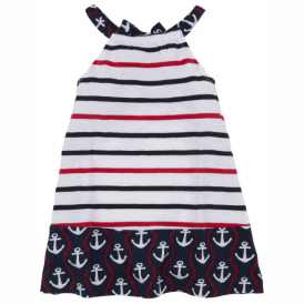 Hatley Girls Dress Anchors and Ropes