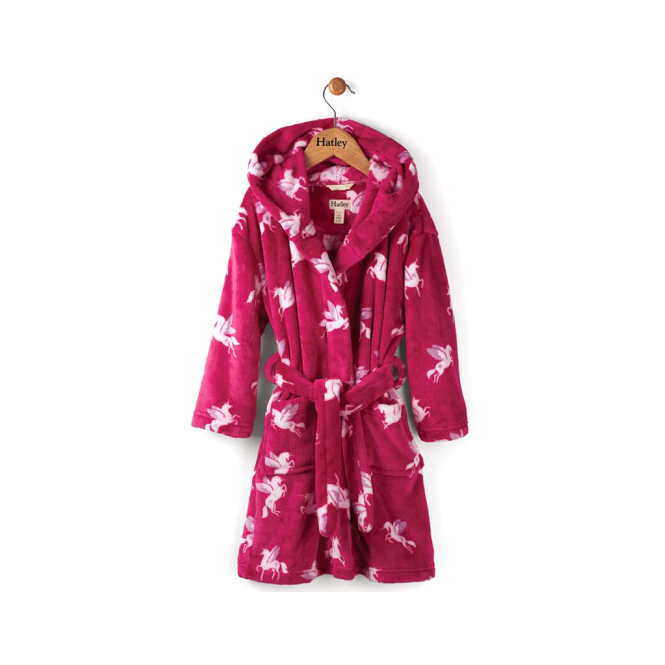 Hatley Girls Fleece Robe Unicorn & Star - Pyjamas & Dressing Gowns ...