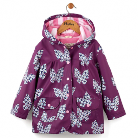 Hatley Girls Raincoat Floral Butterfly
