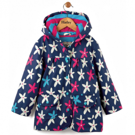 Hatley Girls Raincoat Graphic Flowers