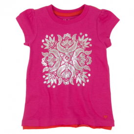 Hatley Girls T-Shirt Embossed Flower