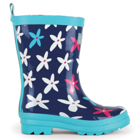 Hatley Girls Wellies Graphic Flowers