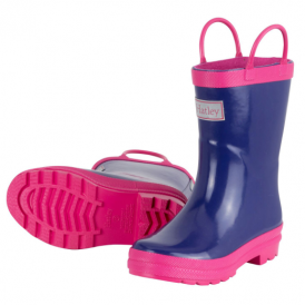 Hatley Girls Wellies Purple & Pink