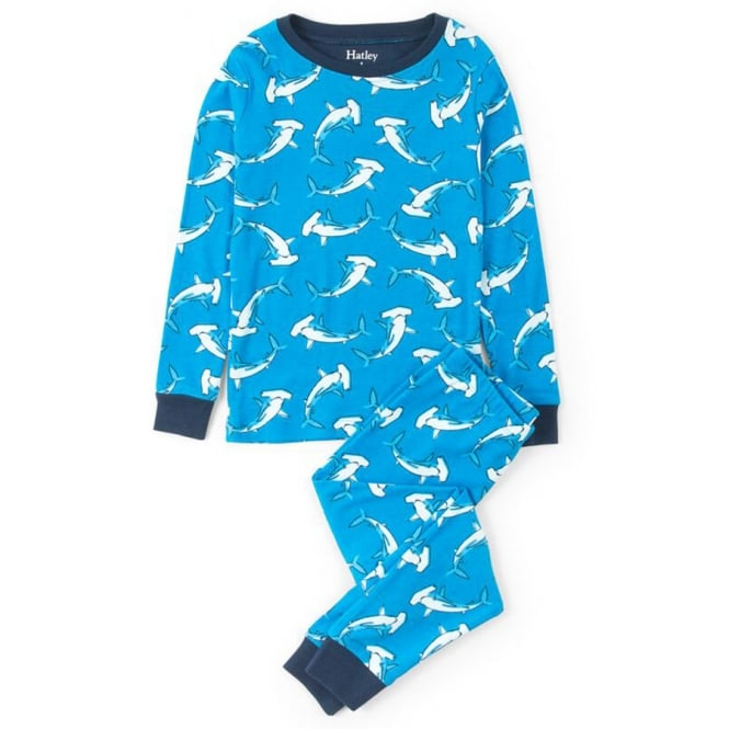 Hatley Pyjamas Loop the Loop Hammerheads Organic Cotton