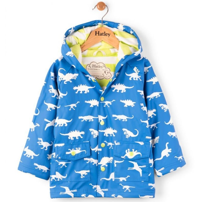 Hatley Raincoat Colouring Changing Dinosaur