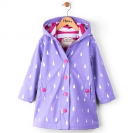 Hatley Splash Jacket Silver Raindrops