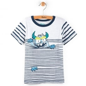 Hatley T-Shirt Monster in Stripes