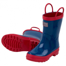Hatley Wellies Navy & Red