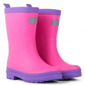 Hatley Wellies Pink & Purple