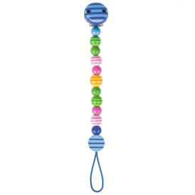 Heimess Soother Chain Stripey Beads