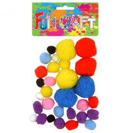 Henbrandt Fun Craft Pom Poms