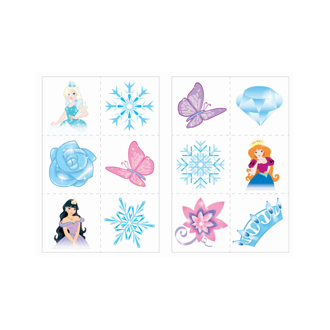 Henbrandt Fun Tattoos Ice Princess