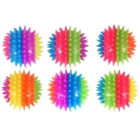Henbrandt Neon Flashing Spikey Ball Stripes