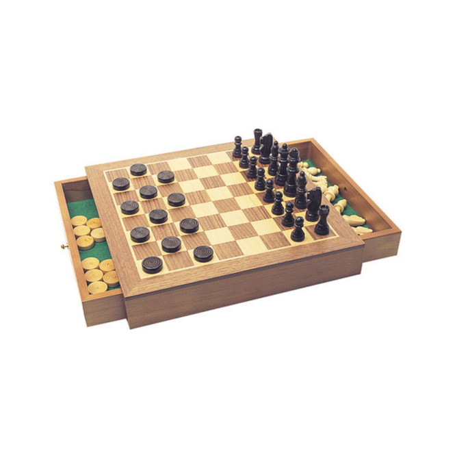House of Marbles Chess/Draughts Set