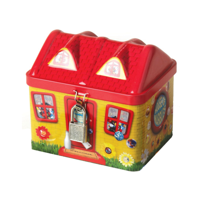 House of Marbles Tin House Money Box