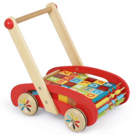 Janod ABC Walking Trolley and Bricks