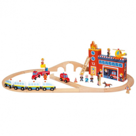Janod Story Express Train Set Firefighters