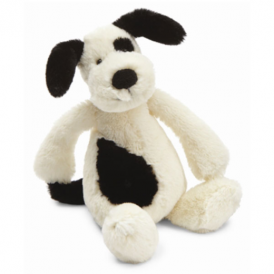 Jellycat Bashful Black & Cream Puppy Small