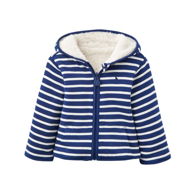 f0bd386ad0 Joules Baby Boy Fleece Navy Stripe InfJames