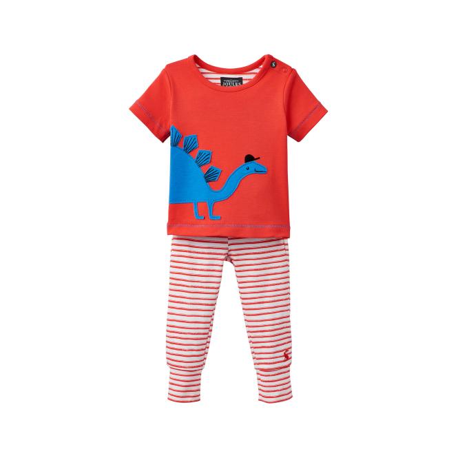 5d8fe204f1 Joules Baby Boy Set Red Stegosaurus BabyDoodle