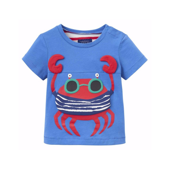 Joules Baby Boy T-Shirt Blue Crab InfClawsome