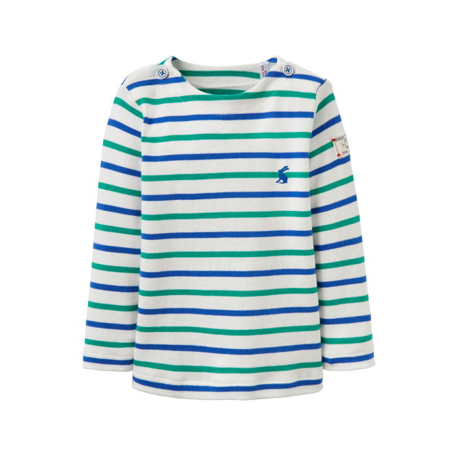 Joules Baby Boy Top Blue & Green Stripe BabyHarbourB